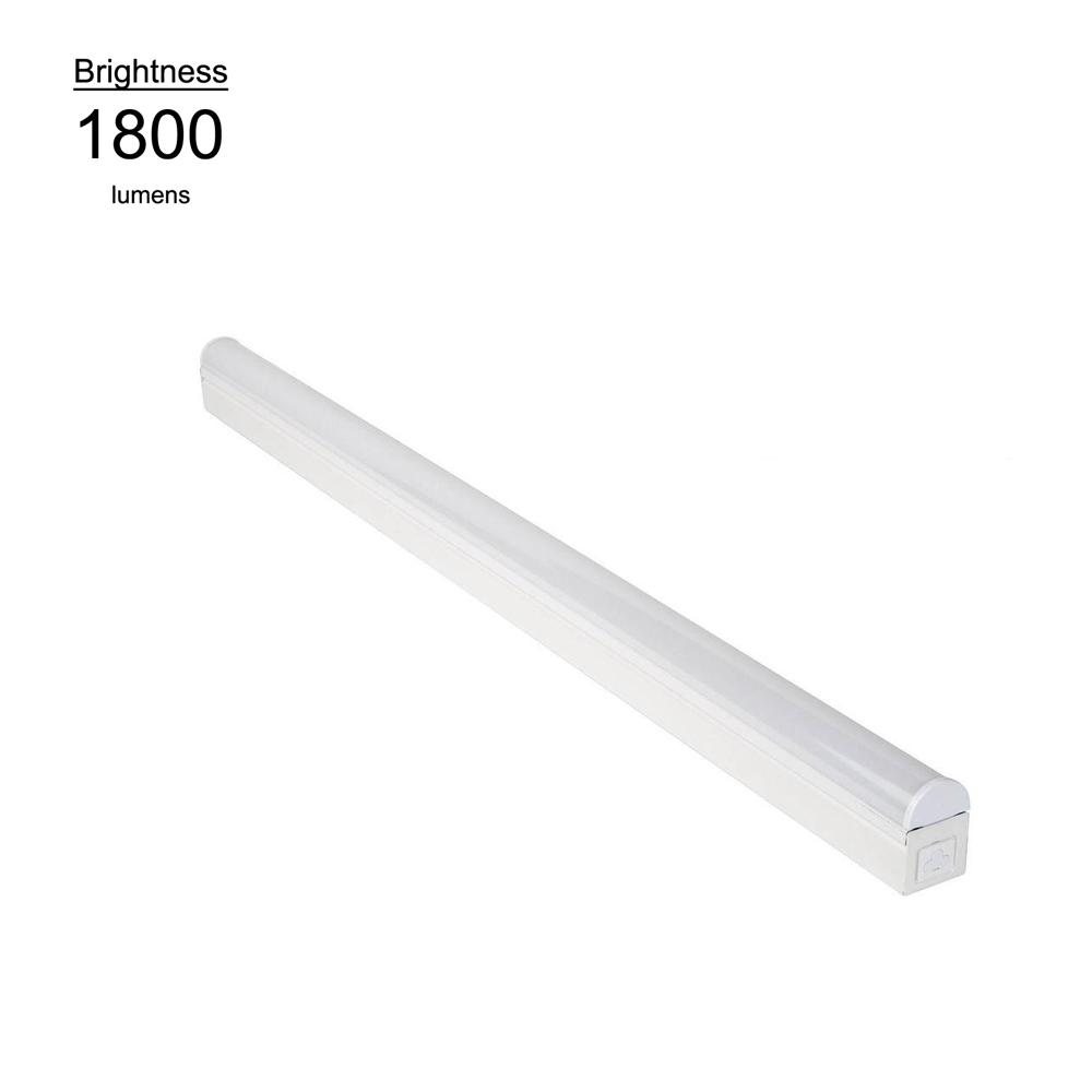 4 Foot Led Ceiling Light Fixture: Commercial Electric 4 Ft. Bright And Cool White LED