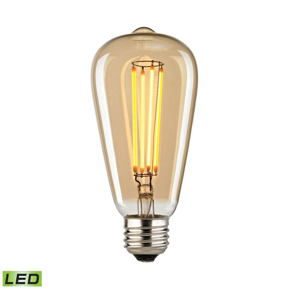 titan lighting filament medium led bulb with light gold tint tn 75860 the home depot. Black Bedroom Furniture Sets. Home Design Ideas