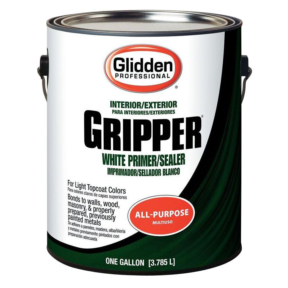 Glidden Professional 1 Gal. Gripper White Primer Sealer GPG 0000 01   The Home  Depot