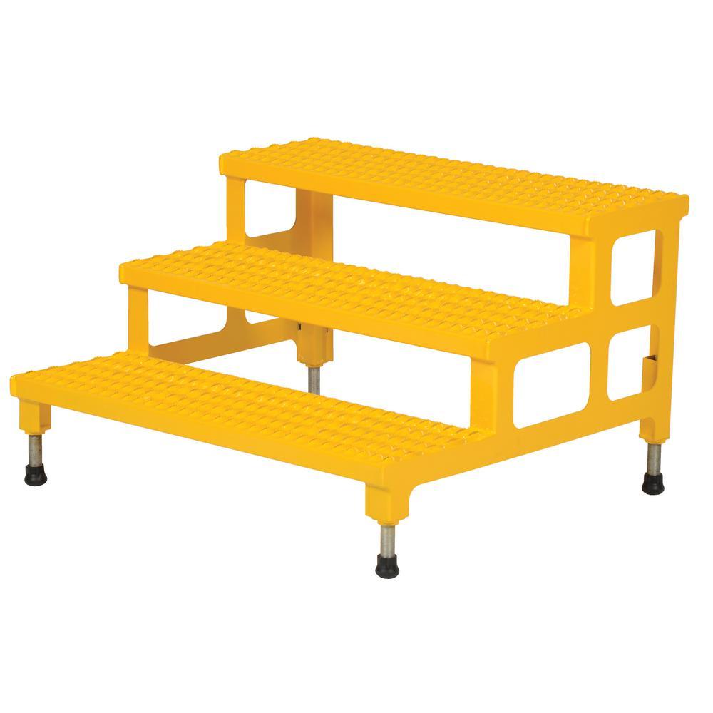 Vestil 36 inch x 34 inch 3-Step Adjustable Step Stand by Vestil