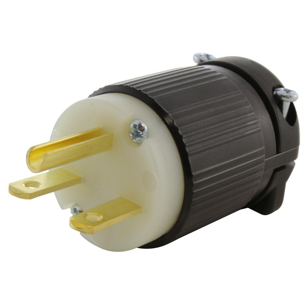 L615-C 15 Amp 250 Volt 2 Pole 3 Wire Locking Female Connector Yellow NEMA L6-15R