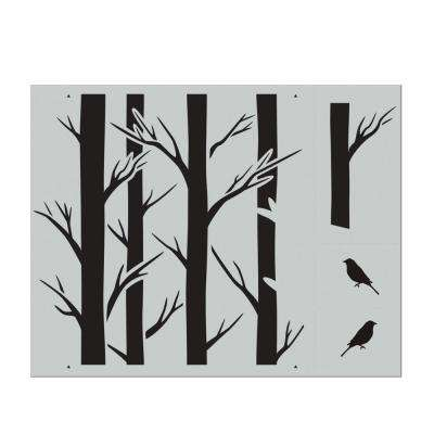 Tree Large Repeat Pattern Stencil