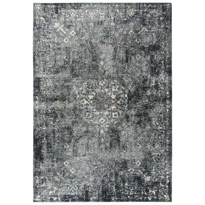 Panache Gray/Ivory 9 ft. 10 in. x 12 ft. 6 in. Rectangle Area Rug