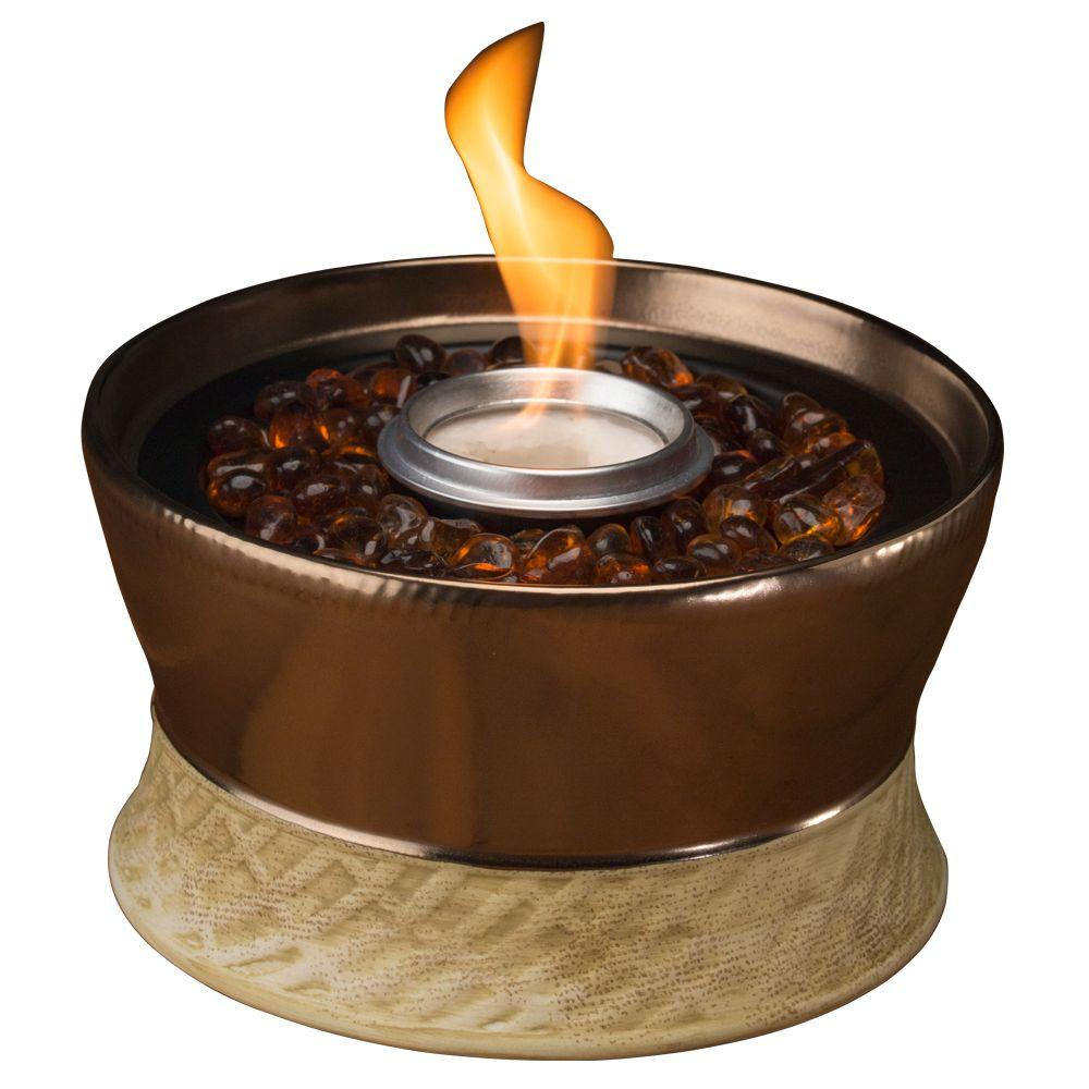 Tiki Clean Burn Small Bronze Tabletop Fire Pit 1114152
