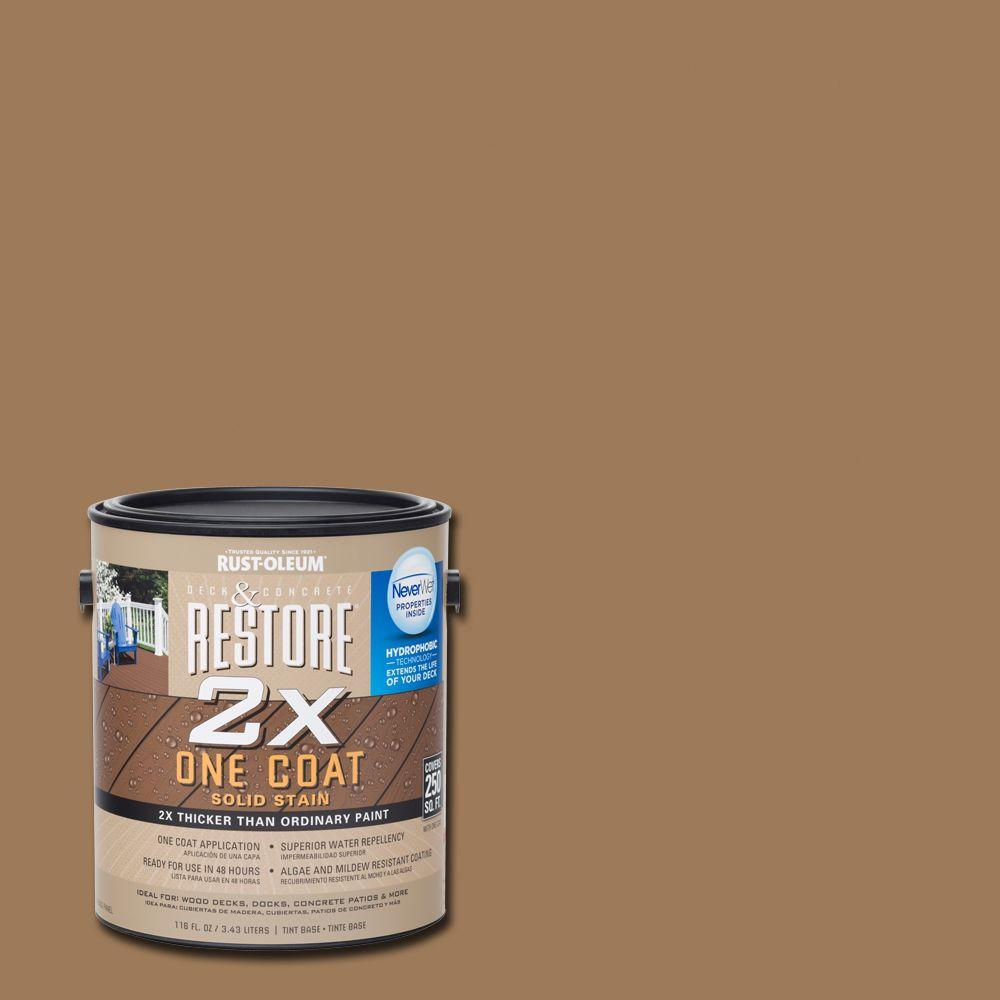 Rust-Oleum Restore 1 gal. 2X Adobe Solid Deck Stain with NeverWet