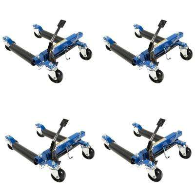 1500 lb. 12 in. Hydraulic Car Wheel Dolly with Stand (4-Pack)