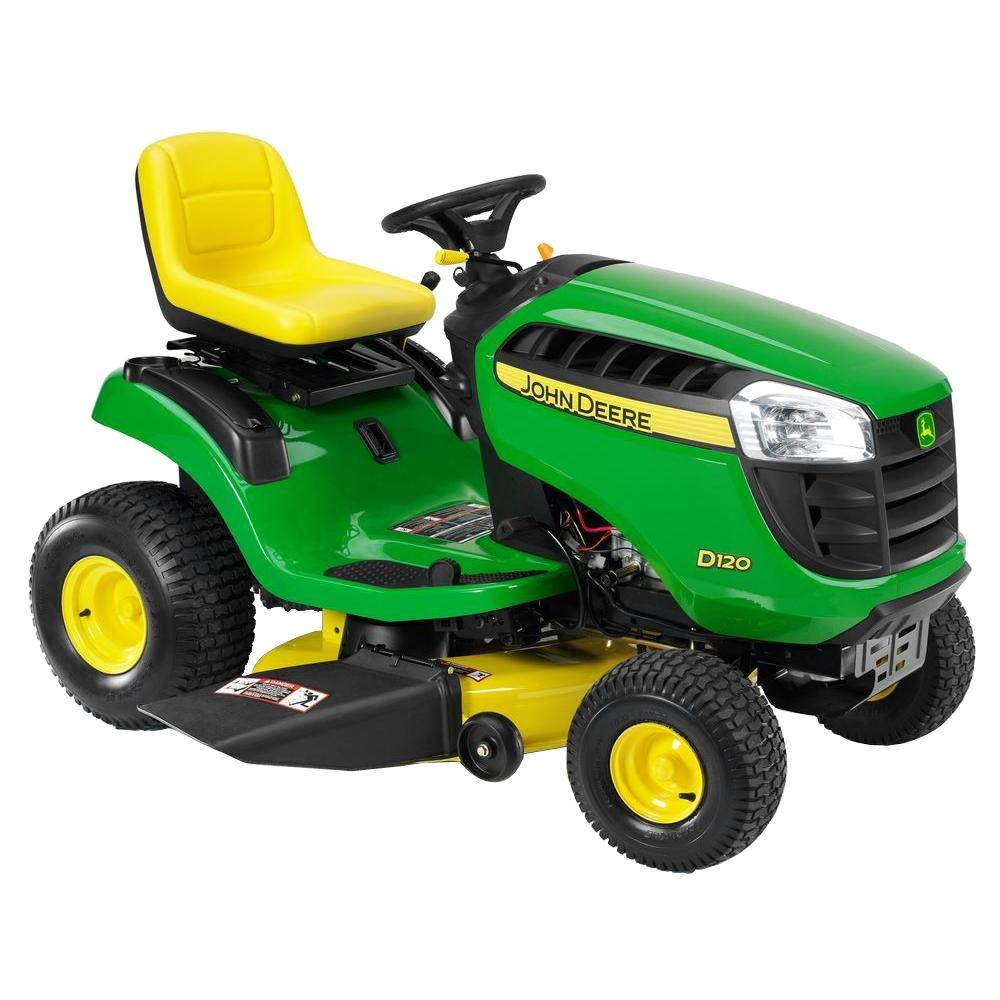 John Deere D120 42 in. 21-HP Hydrostatic Front-Engine Riding Mower-DISCONTINUED