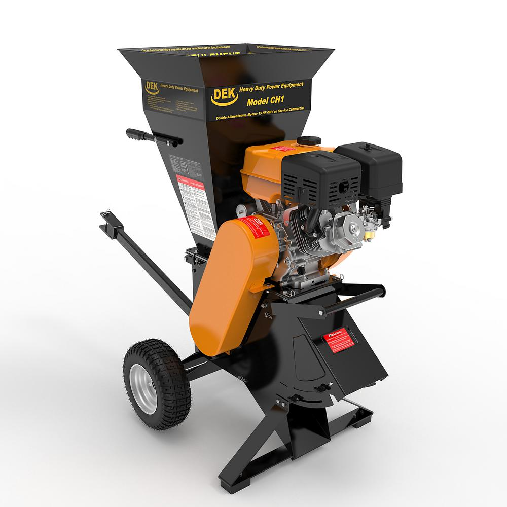 DEK 4 in. 15 HP 420cc Gas Powered Self-Feeding Commercial Duty Chipper Shredder with Trailer Hitch, Gloves, Goggles included was $1999.0 now $1199.0 (40.0% off)