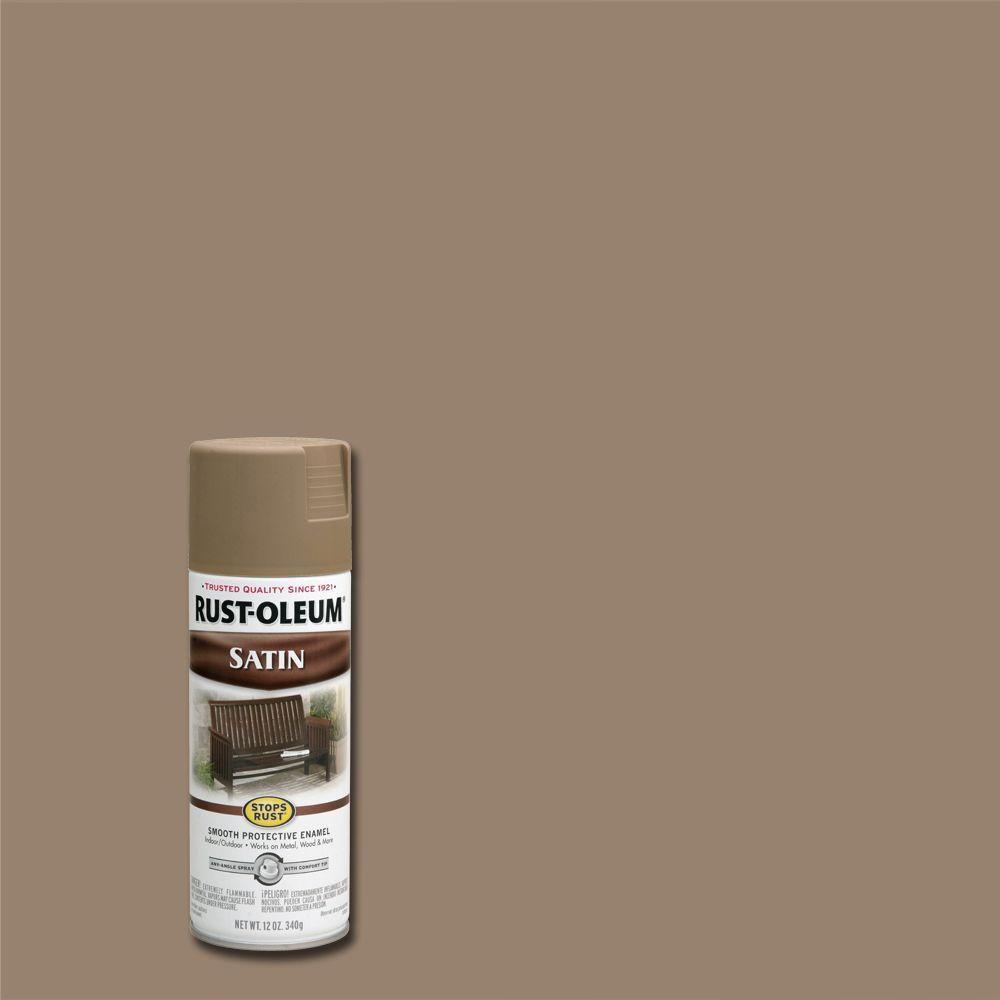 12 oz. Protective Enamel Satin Dark Taupe Spray Paint