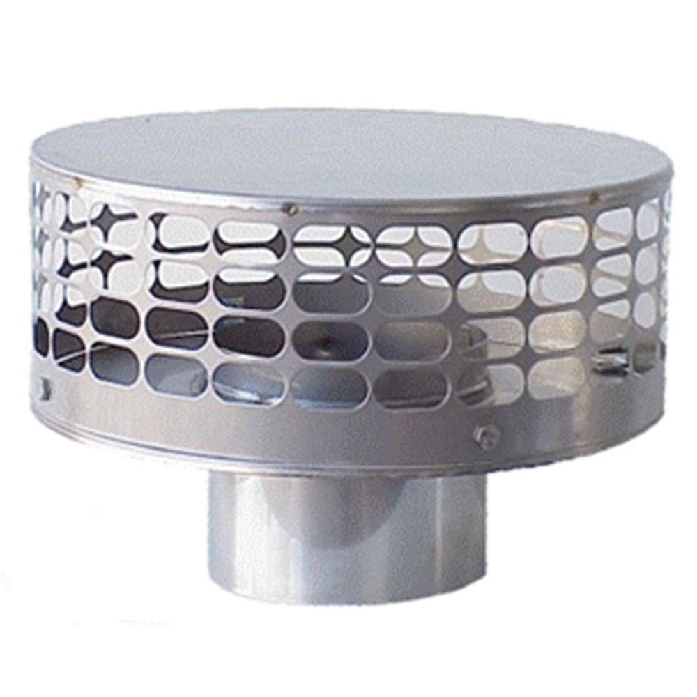 The Forever Cap Guard Liner Top 12 in. Round Fixed Stainless Steel ...