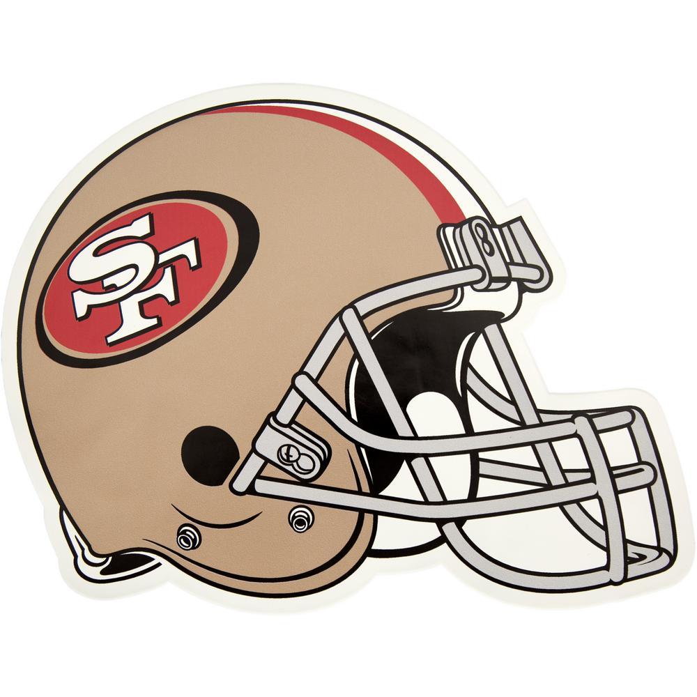 NFL San Francisco 49ers Outdoor Helmet Graphic- Large