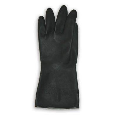 Black Flock Lined Neoprene Gloves - XL