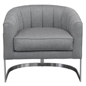 Paloma Contemporary Grey Fabric Upholstered Accent Chair