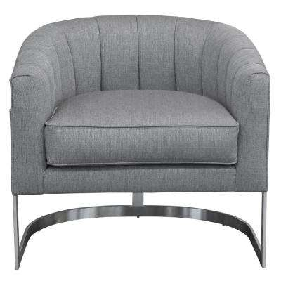 Hoffman Contemporary Grey Fabric Upholstered Accent Chair