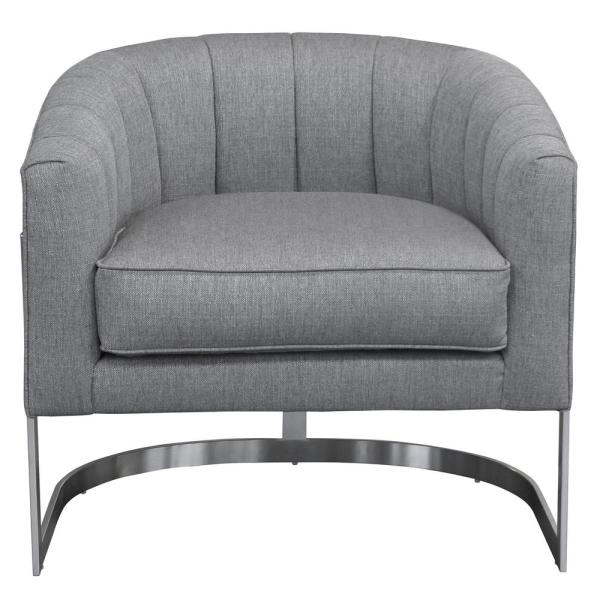 Armen Living Paloma Contemporary Grey Fabric Upholstered Accent Chair LCPMCHGR