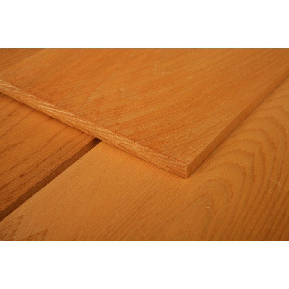 16 in  Maximum Natural Tone Eastern White Cedar Shingle Siding (25 sq   ft /Box)