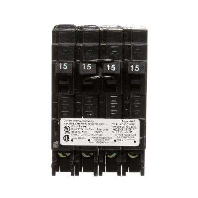 15 Amp Double-Pole and (2) 15 Amp Single-Pole Type MP-T Triplex Circuit Breaker
