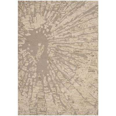 Bella Winter Taupe 8 ft. x 10 ft. Area Rug