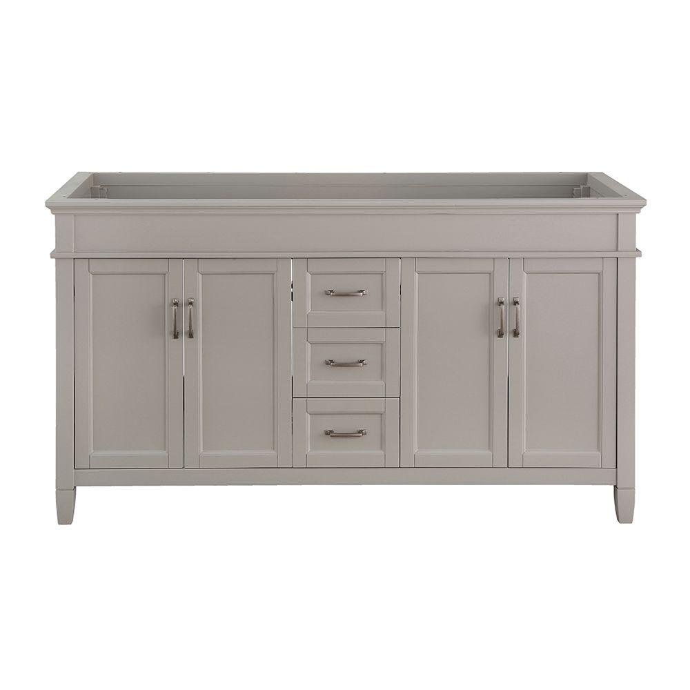 Foremost ashburn 60 in w x in d vanity cabinet in for Foremost home