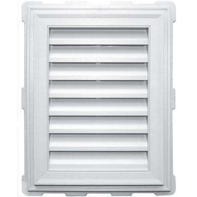 18 in. x 24 in. Classic Brickmould Gable Vent in White