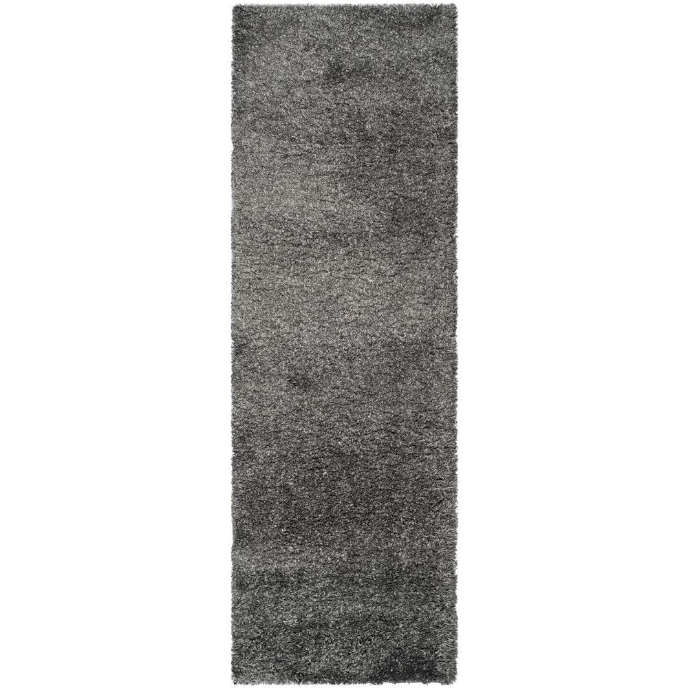 California Shag Dark Gray 2 ft. 3 in. x 7 ft.