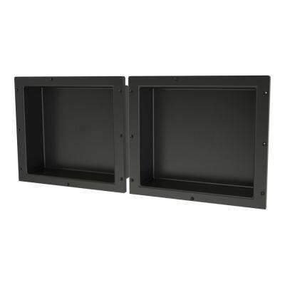 16 in. x 14 in. Shampoo - Soap Double Niche Set