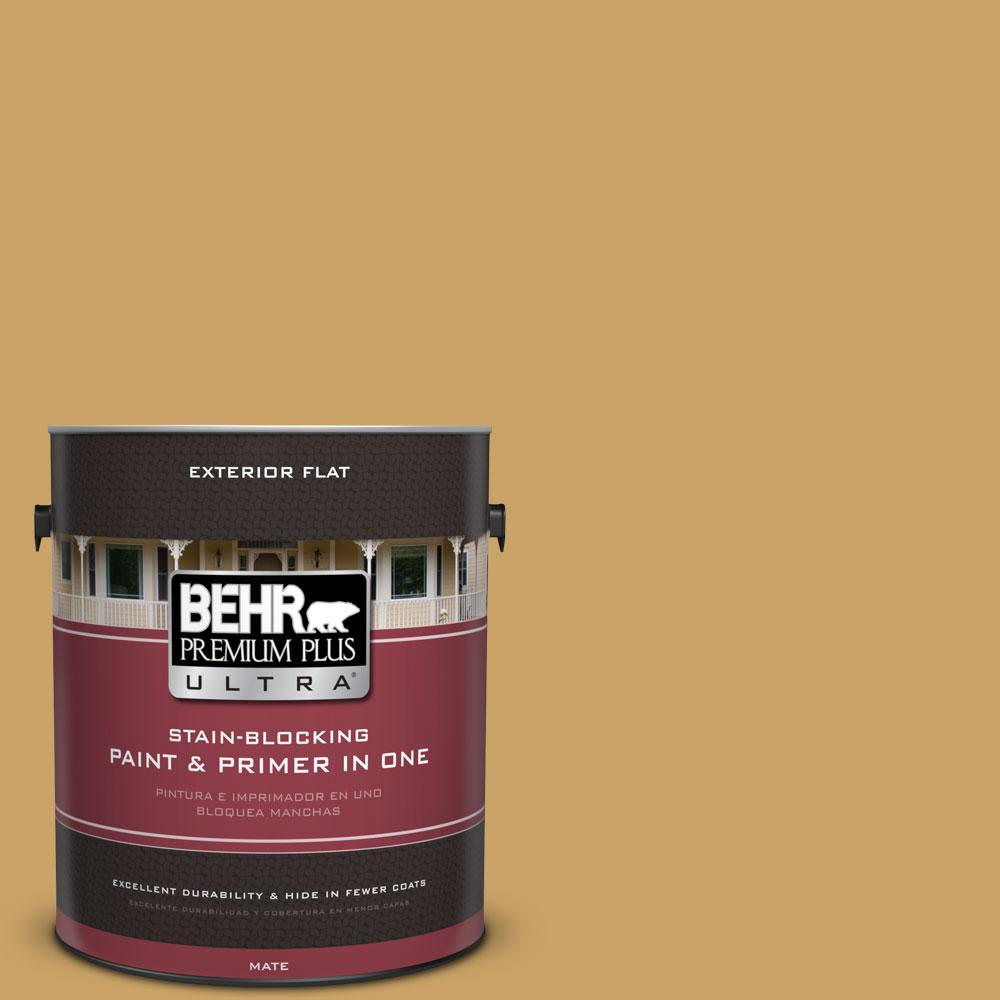 1-Gal. #PPU6-17 Classic Gold Flat Exterior Paint