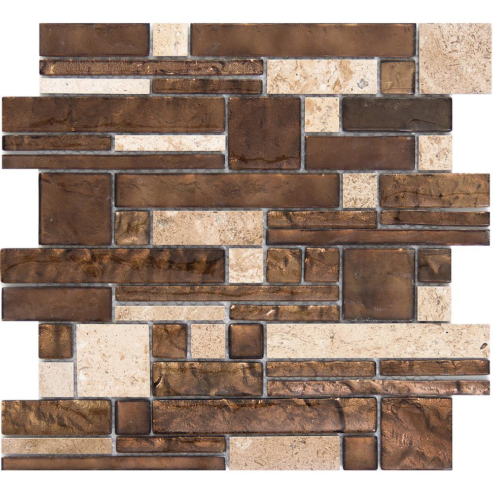 Emser Vista Sight Glossy 11.81 in. x 11.81 in. x 8mm Glass Mesh-Mounted Mosaic Tile (0.97 sq. ft.)