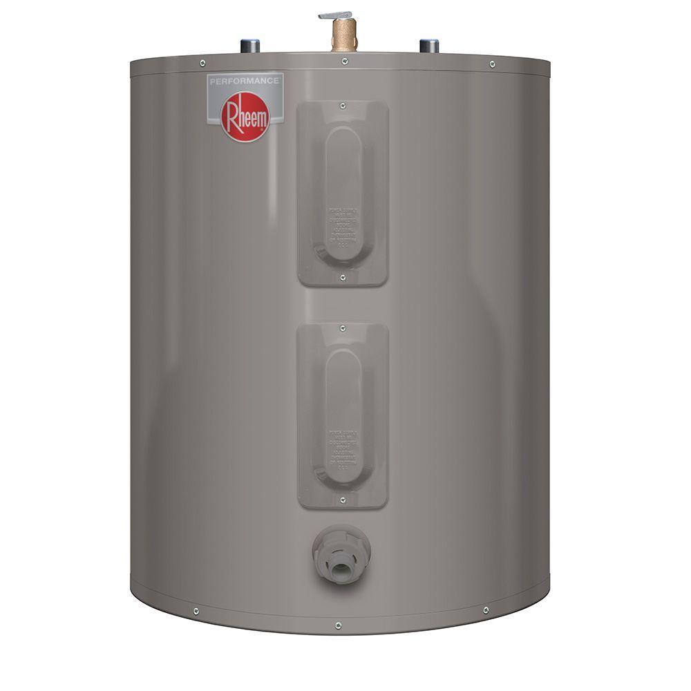 Rheem Hot Water Heaters >> Rheem Performance 38 Gal. Short 6 Year 4500/4500-Watt Elements Electric Tank Water Heater ...