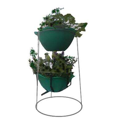 Grow Anything Anywhere Tower 16 in. x 24 in. Antique Finish Steel Mesh Planter