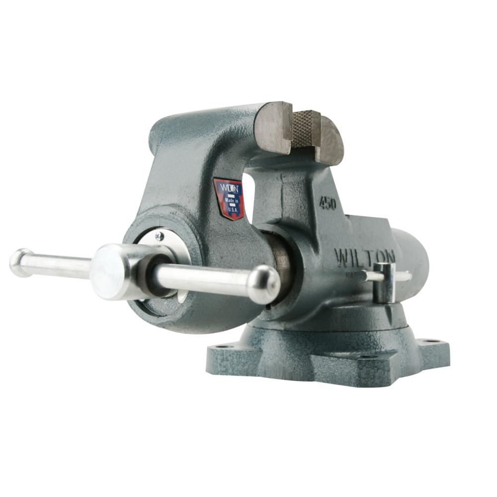 Wilton Machinist 8 in. Jaw Round Channel Vise with Swivel...