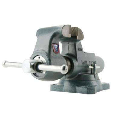 Machinist 8 in. Jaw Round Channel Vise with Swivel Base