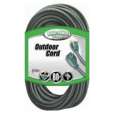 80 ft. 16/3 SJTW Outdoor Vinyl Extension Cord