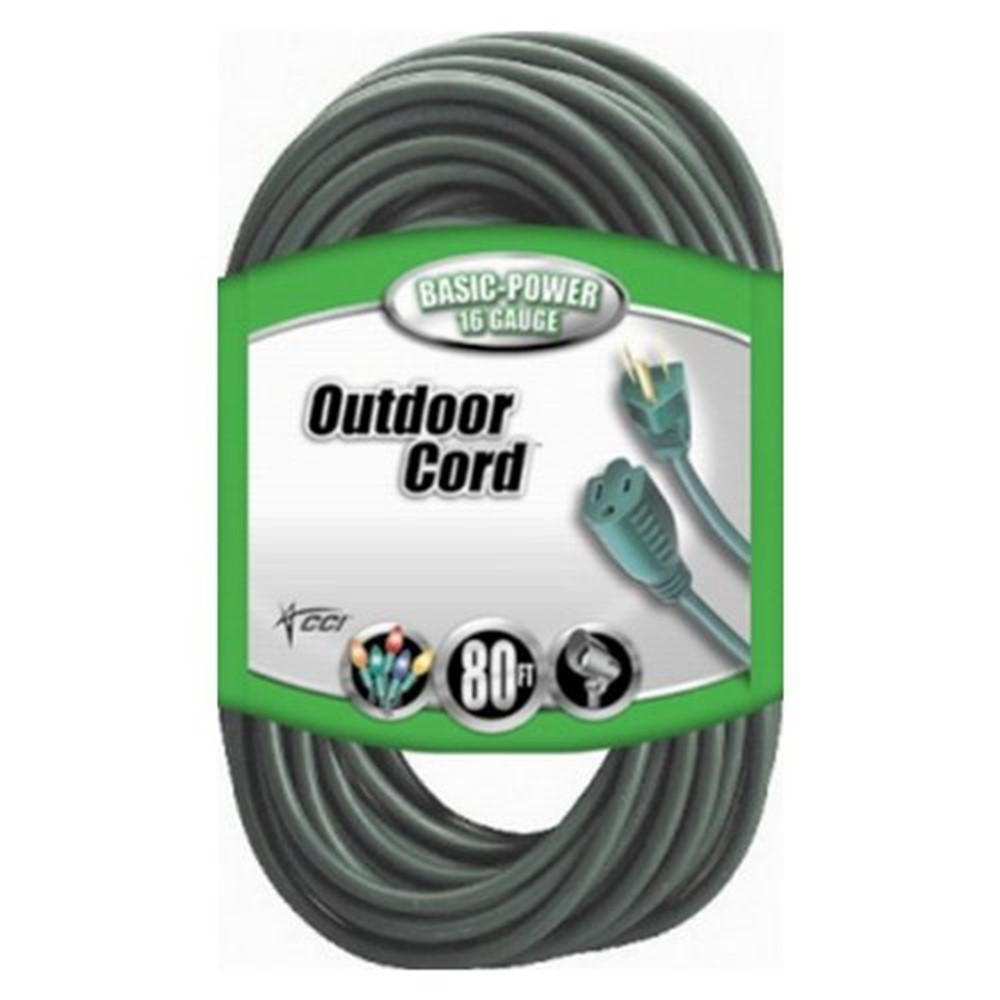 Southwire 80 ft. 16/3 SJTW Outdoor Light-Duty Extension Cord ...