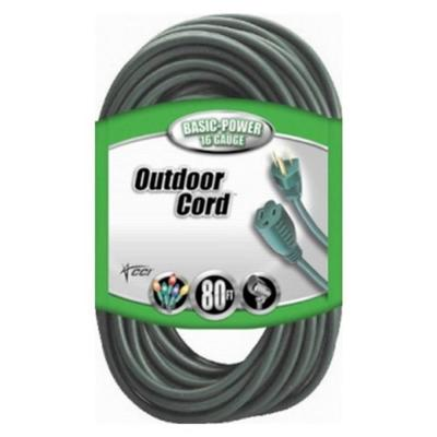 80 ft. 16/3 SJTW Outdoor Light-Duty Extension Cord