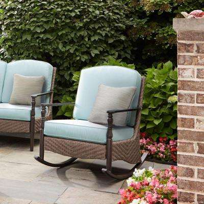 Great Bolingbrook Rocking Wicker Outdoor Patio Chair