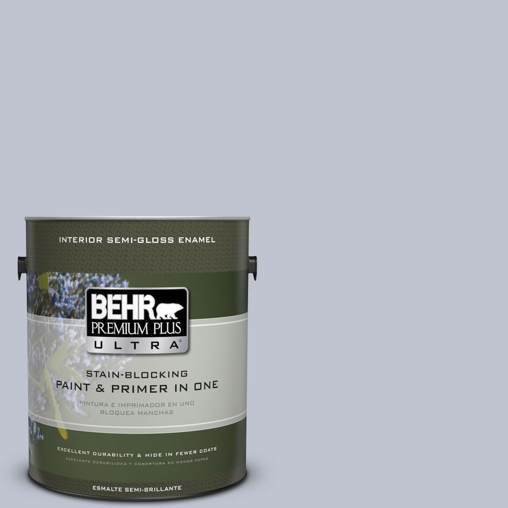 BEHR Premium Plus Ultra 1-gal. #S550-2 Powder Lilac Semi-Gloss Enamel Interior Paint
