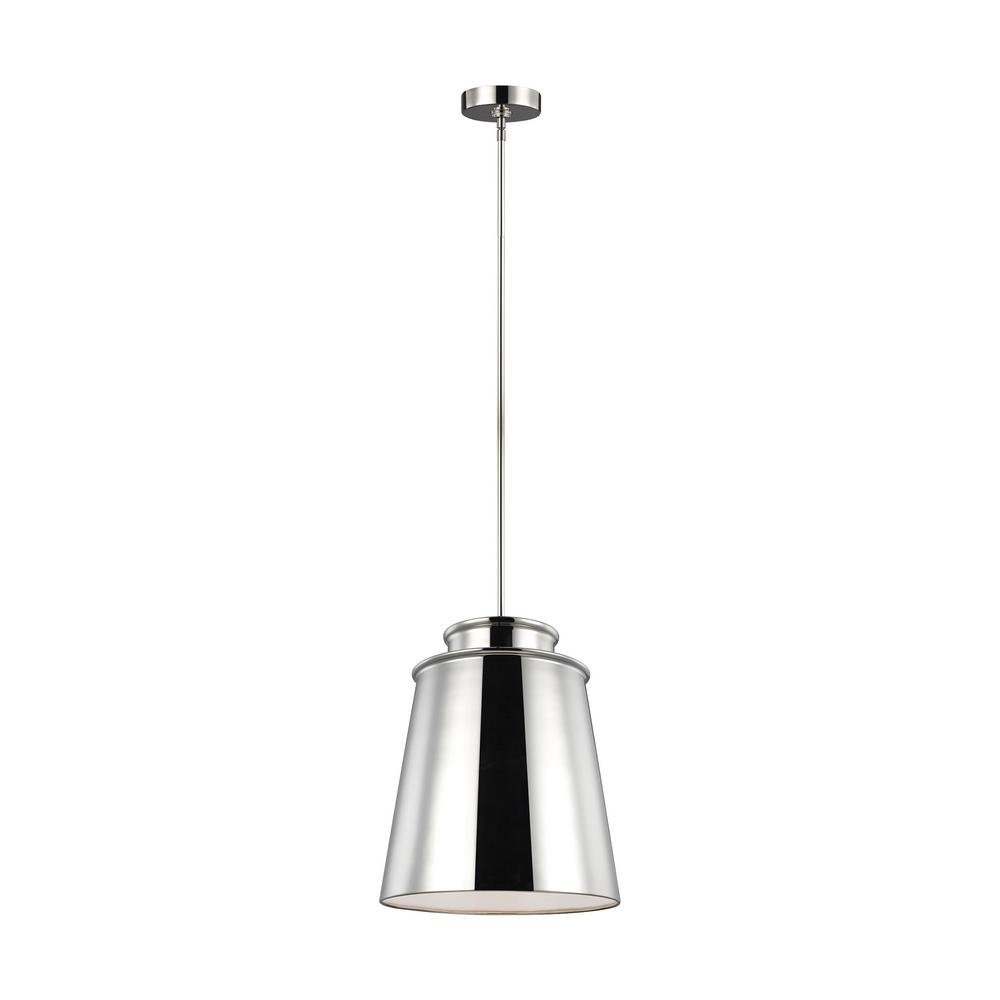 Feiss Fiona 1-Light Polished Nickel Pendant
