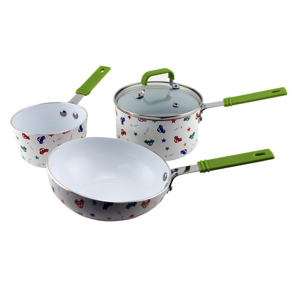 Children's Line 3-Piece Multicolor Cookware Set