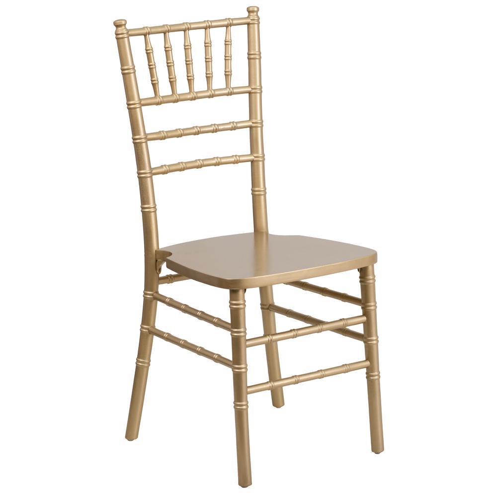 Hercules Series Gold Wood Chiavari Chair