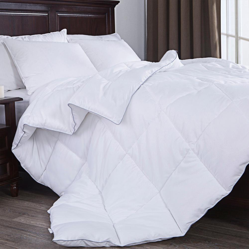 Down Alternative Comforter, Duvet Insert, White, King Size