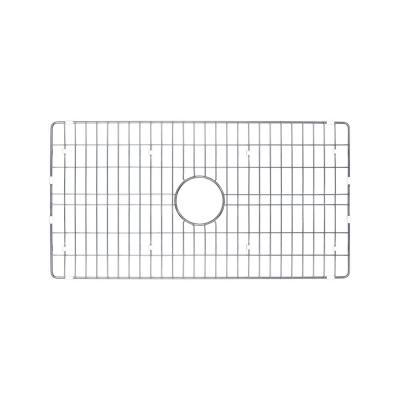 Single Bowl Fireclay Kitchen Sink Grid in Brushed Stainless Steel