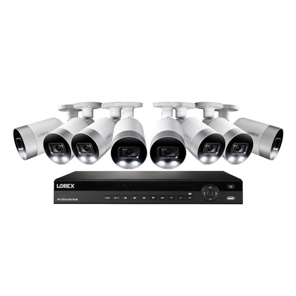 Lorex 16-Channel 4K NVR with 3TB HDD Surveillance Camera System and 8 Wired IP 4K Bullet Cameras