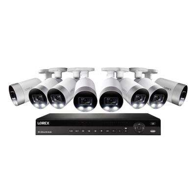 16-Channel 4K NVR with 3TB HDD Surveillance Camera System and 8 Wired IP 4K Bullet Cameras