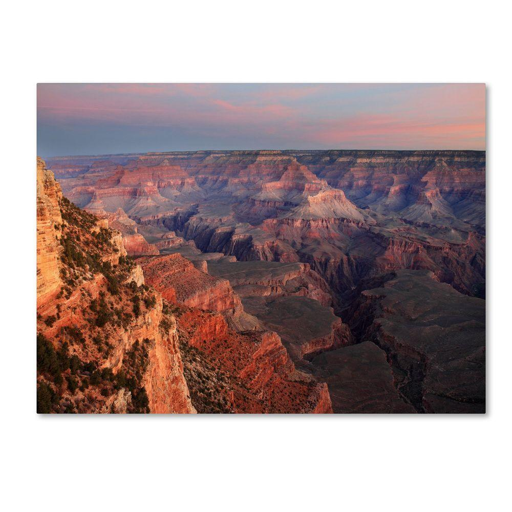 30 in. x 47 in. Grand Canyon Sunrise Canvas Art
