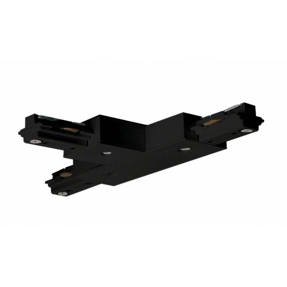 Glomar Black Track Lighting T Connector