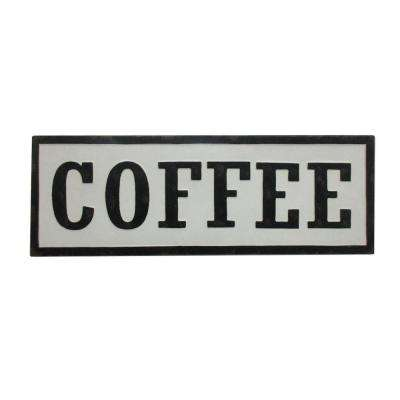 12 in. White Novelty Sign-Coffee