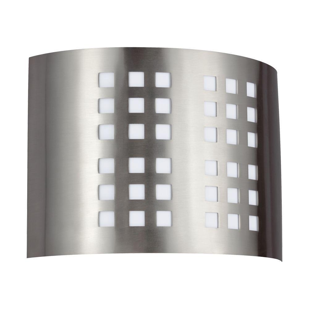 Sea Gull Lighting Grid 2-Light Brushed Nickel Quad-Pin Sconce