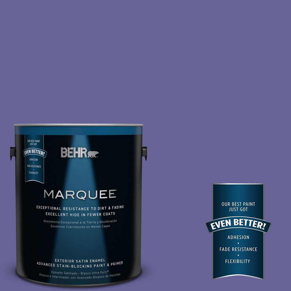 1 gal. #T15-13 Prime Purple Exterior Satin Enamel Paint