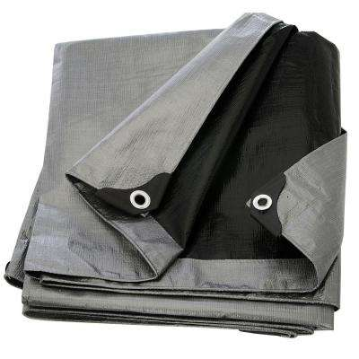 40 ft. x 60 ft. Silver Black Heavy Duty Tarp